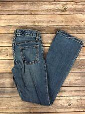 Old Navy Girls Jeans Medium Wash Boot Cut Adjustable Waist Blue14 Regular #7267
