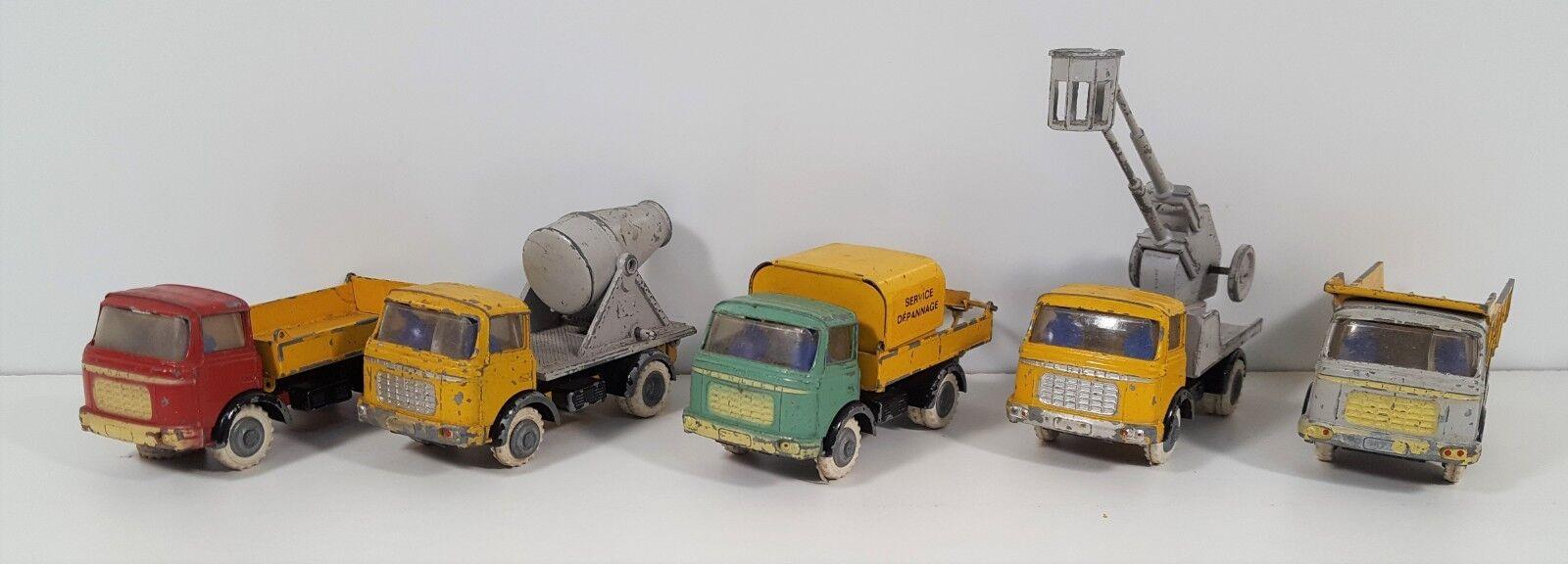 nuevo sádico Lote de 5 5 5 vehículos industriales. Metal. Berliet. Esc . fabricado en Francia alrededor de 195  tienda en linea