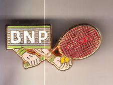 RARE PINS PIN'S .. TENNIS ROLAND GARROS BANQUE BNP ROUGE BERCY 91 ARTHUS B. ~CR