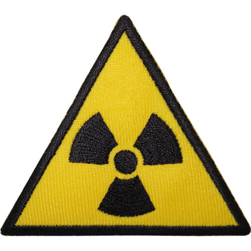 Radioactive Sign Embroidered Iron Sew On Patch Radiation Symbol T Shirt Badge