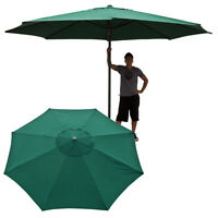13' Ft Feet Market Patio Garden Umbrella Steel Canopy Canvas Cover Green on sale