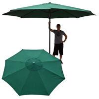 13' Ft Feet Market Patio Garden Umbrella Steel Canopy Canvas Cover Green