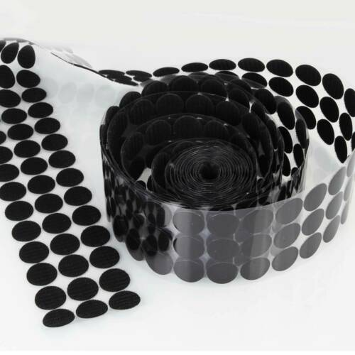 1000pcs 10-30mm Diameter Sticky Back Coins Hook /& Loop Self Adhesive Dots Tapes