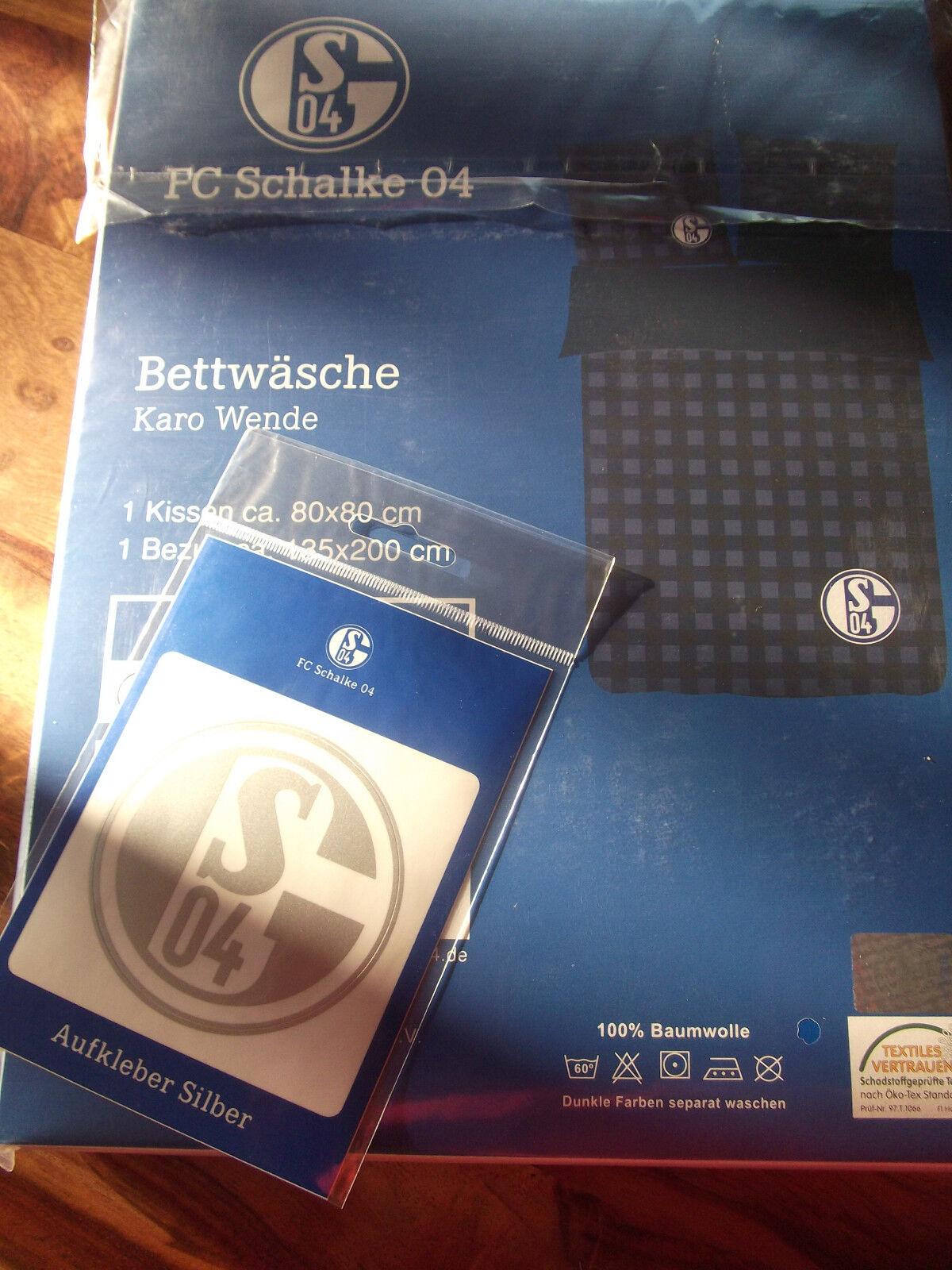 FC Schalke Aufkleber 04 Bettwäsche
