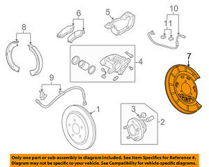 Image Is Loading Chevrolet Gm Oem Camaro Rear Brake Backing Plate