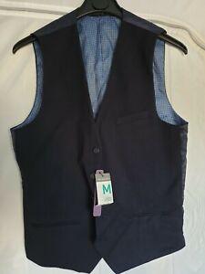 Mens-Navy-Suit-Waistcoat-Size-M-Primark