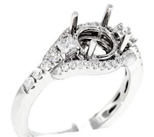 Diamond-Ring-Setting-0-62ct-Engagement-3-Stone-Semi-Mount-18k-White-Gold