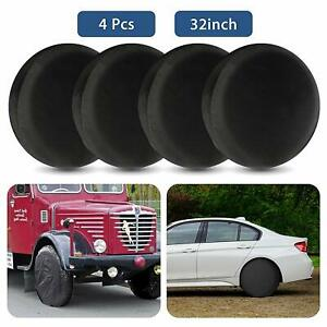 4Pcs Wheel Tire Covers 32'' Tire Protector Cover Set for Trailer Car Truck RV