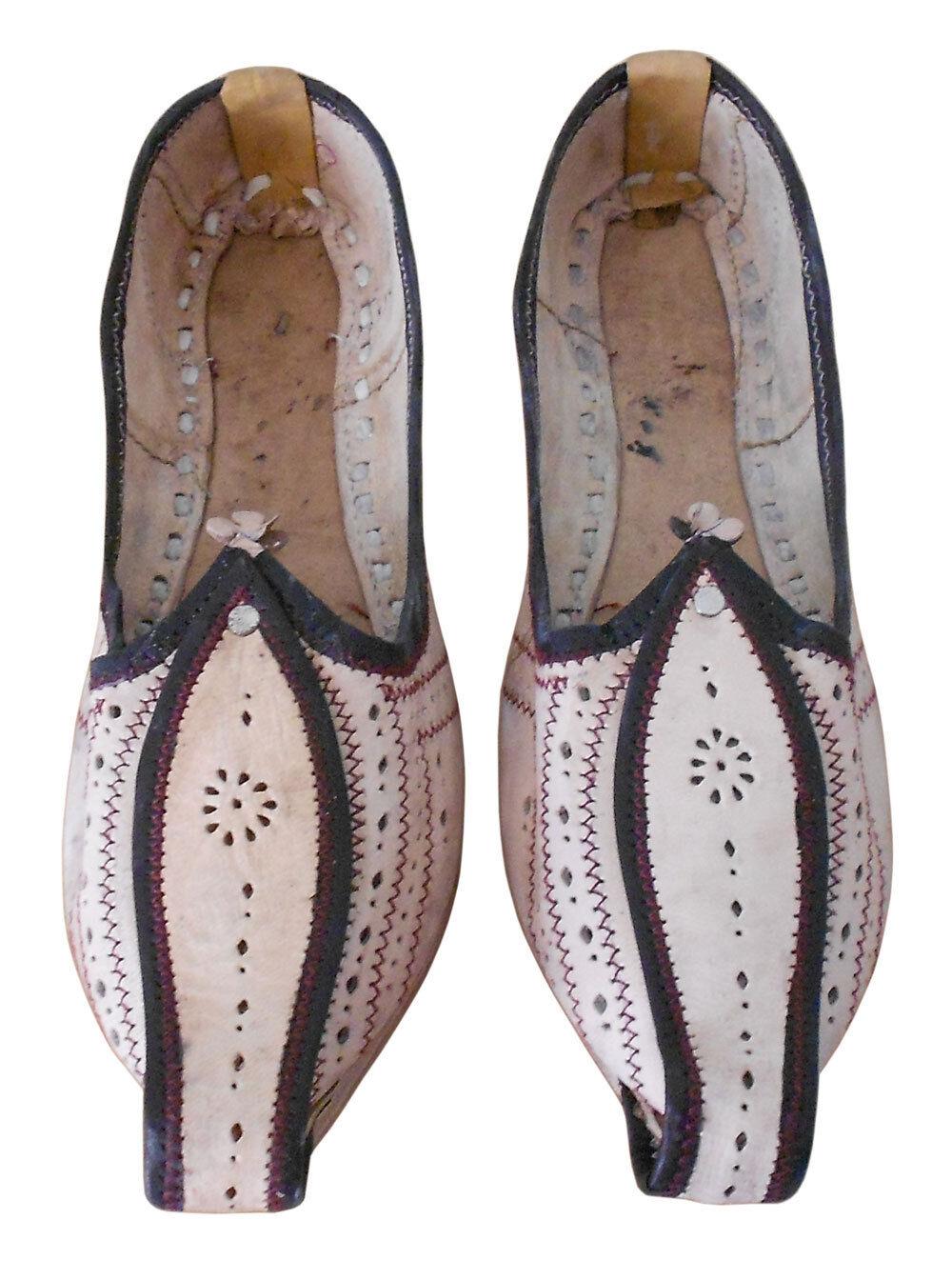 Men shoes Jutti Traditional Leather Cream Indian Espadrilles Mojari US 8