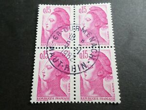 FRANCE BLOC timbres 2180 LIBERTE' DELACROIX, oblitéré 1982 cachet rond, QUARTINA