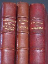 FRENCH NOVELS ~ 1926 16TH CENTURY POETS / 1927 PSYCHE / 1912 SALAMMBO, FLAUBERT
