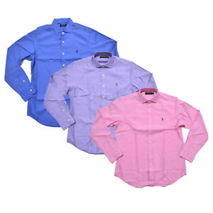 Polo Ralph Lauren Mens Twill Button Up Shirt Pony Logo Estate Woven ... 70942e26c58d4