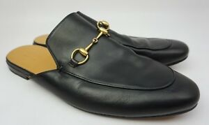 12759e864 Gucci Princetown Black Leather Slippers Men s Shoes Size 13 G 14 US ...