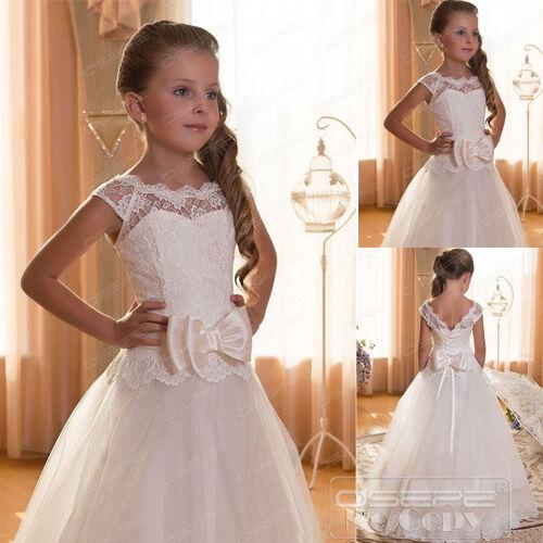 OSEPE Flower Girl Dress Communion Pageant Party Dress Birthday Bridesmaid Dress