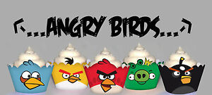 Angry Birds Birthday Party 15 Wraps Cupcake Cases Cake Wrappers eBay