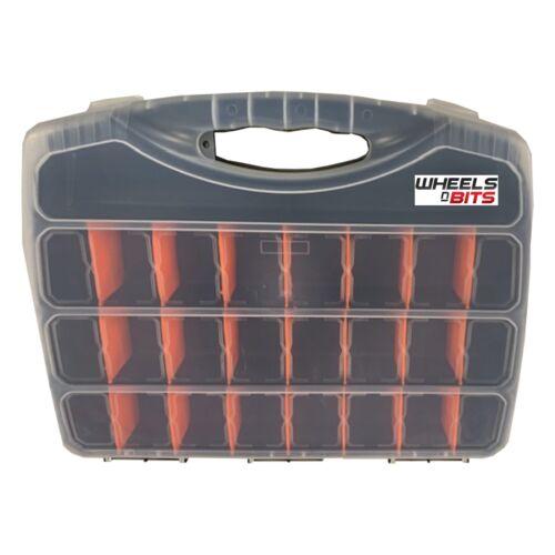 480 mm Extra Large Outil Boîte de rangement Case Organisateur Assortiment de 25 compartiments