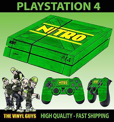 2 X Pad Vinilo Lay Grade Products According To Quality Obedient Ps4 Piel Nitro Cajón Verde Crash Bandicoot Nuevo Pegatina Video Game Accessories