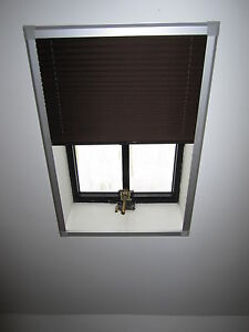 Skylight Pleated Roof Blinds To Fit Velux Gvt 154 Silver