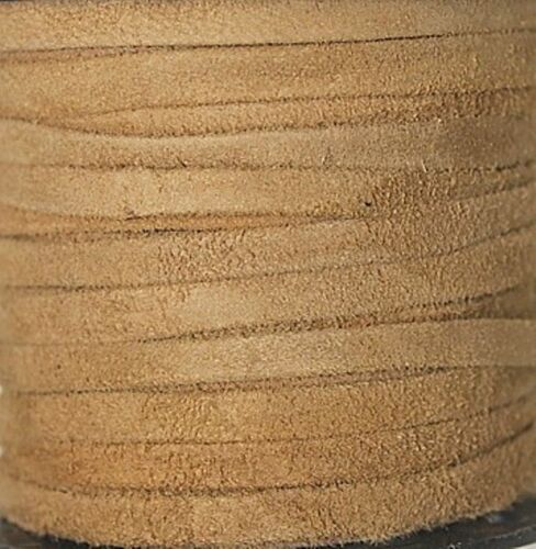 Leather Folded /& Pasted 4mm x 1mm Real Suede 1-25 Yards High Quality