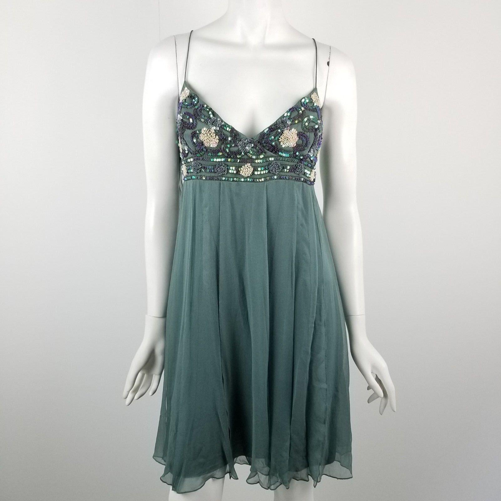 Aidan Mattox Dress damen Größe 8 Sequin Embellished Sweatheart Bust Empire Waist