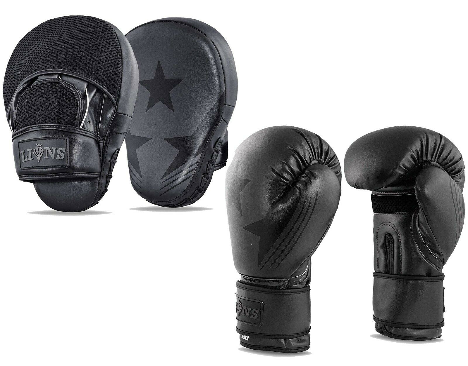 Lions Boxing Pads Punch Bag Training MMA Hook /& Jab Focus Mitts Thick Padded Pair