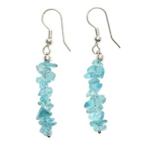 CHARGED-Blue-Apatite-Crystal-Chip-Earrings-REIKI-Energy-ZENERGY-GEMS