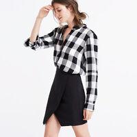 Madewell Women's Silk Parkway Skirt Size Xsmall