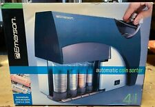 Emerson Automatic Coin Sorter 4 Barrel Battery Operated Nib Sealed