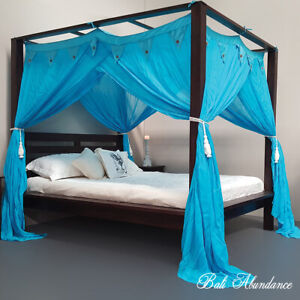 CANOPY-STANDARD-Coconut-Button-Mosquito-Net-for-Four-Poster-Bed-COLOURED