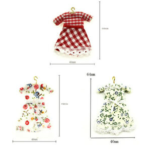 1:12 Miniature small skirt dollhouse diy doll house decor accessories Gw