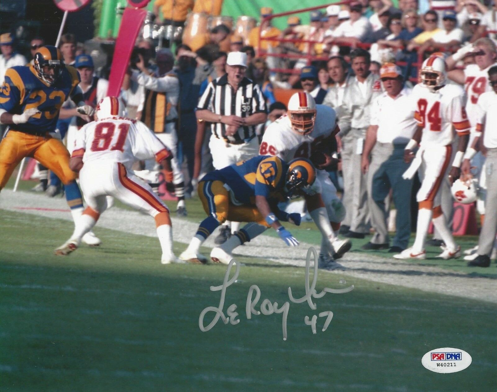 LeRoy Irvin Los Angeles Rams Signed 8x10 Photo - PSA/DNA # W40211