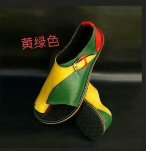 Womens-Sandals-Shoes-Multicolor-Roman-Open-Toe-Beach-Flats-Retro-Chic-Size-35-43