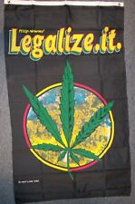 Legalize It Flag 5Ft X 3Ft Marijuana Weed Cannabis Rasta Banner New