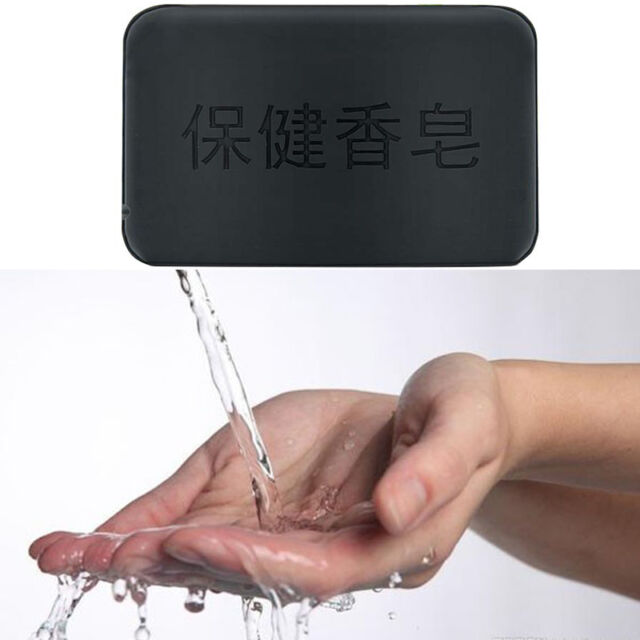 Health Care Black Bamboo Charcoal Soap Face Body Clear Anti Bacterial Tourmaline