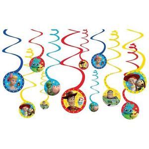Disney-Toy-Story-4-12pc-Swirls-Decorations-Birthday-Party-Supplies