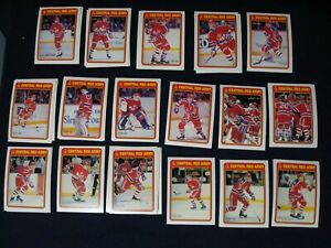 LOT-OF-40-PCS-1990-91-OPC-O-PEE-CHEE-RED-ARMY-HOCKEY-CARDS-SEE-DESCRIPTION