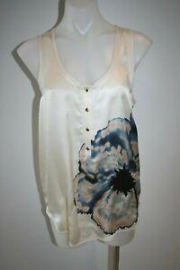 DIANE-VON-FURSTENBERG-cream-print-silk-top-size-US-8-AU-10-12-350-AS-NEW