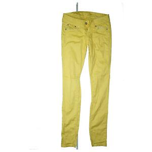 Pepe-Jeans-Skittle-Low-Waist-Slim-Skinny-Stretch-Trousers-W28-L32-Yellow-New-F44
