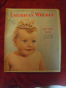 1957 AMERICAN WEEKLY DETROIT TIMES NEW YEARS SALUTE DEC 29, 1957 VGC L@@K1