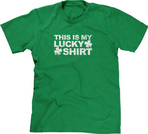 This-Is-My-Lucky-Shirt-Clovers-St-Patricks-Day-Proud-Irish-Pride-Mens-Tee