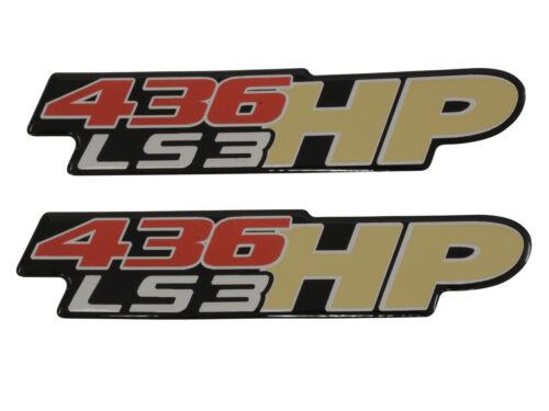 Corvette Fender//Bumper Gel Emblem 436HP LS3