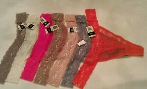 ALL-lace-Thong-panties-plus-tanga-size-3X-coral-gray-pink-ivory-D7