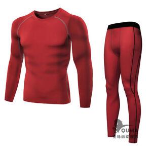 Mens Pro Quick Drying Compress Top Tight Long Sleeve T-Shirt Breath Elastic 5021