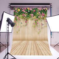 3x5ft Flower Wood Wall Vinyl Studio Backdrop Photography Prop Background 14-656