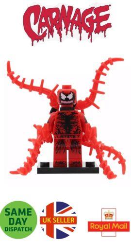 Carnage Spiderman Mini Figure Symbiote Kasady Venom Avengers Marvel UK Seller