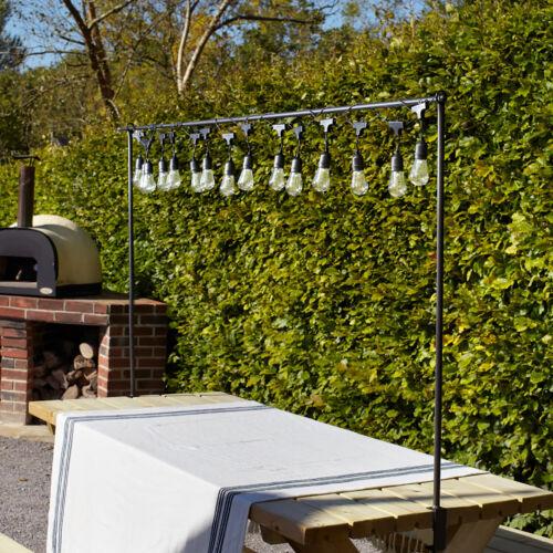 15 Blanc Chaud DEL Ampoule Claire Rétro Batterie Parti Feston Lights 4.2 m Lights 4fun