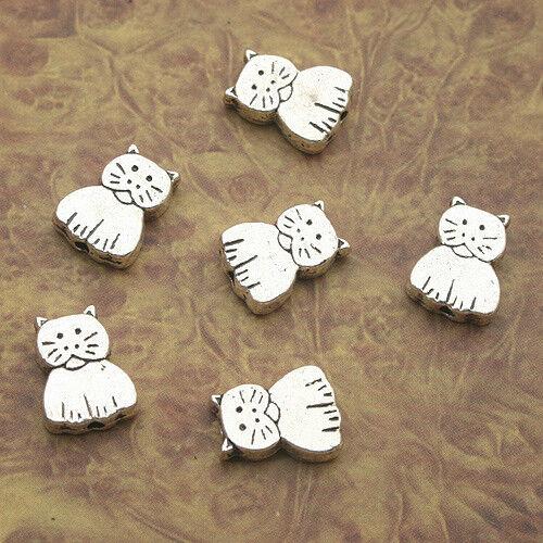 12pcs Tibetan Silve cat Spacer bead Findings X0149