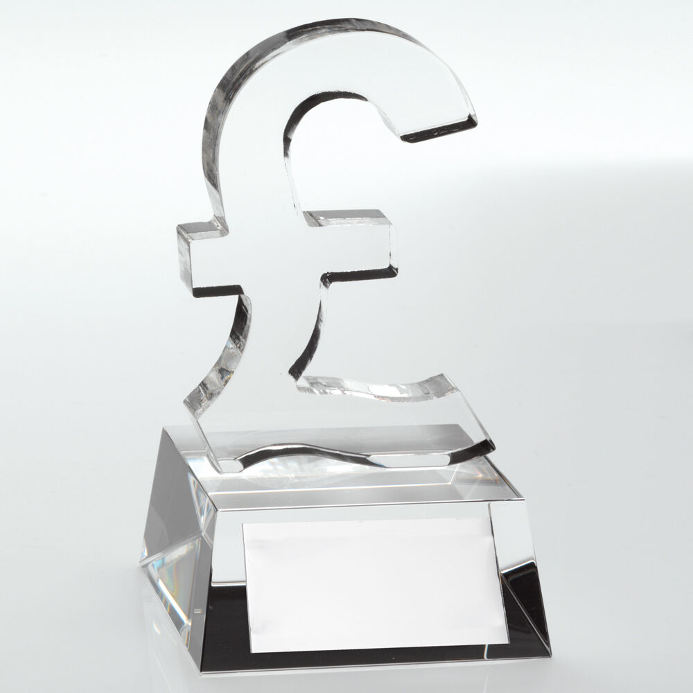 Pound Sign Sales Trophy Award,120mm, Free Engraving, (JB800) td