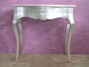 Consolle di legno massello in foglia argento | eBay