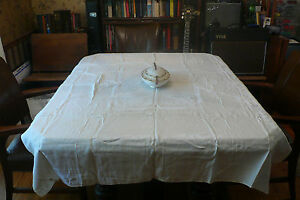 Huge Collection of VINTAGE antique linen TABLECLOTH for Bed & Breakfast: lot #12